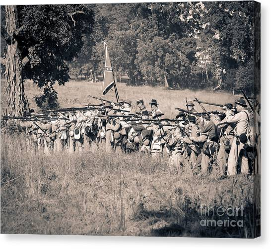 Gettysburg Confederate Infantry 9270s Canvas Print