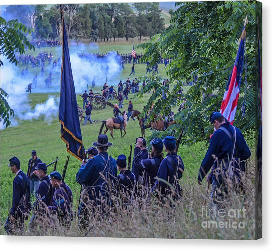 Gettysburg Union Artillery And Infantry 7459c Canvas Print