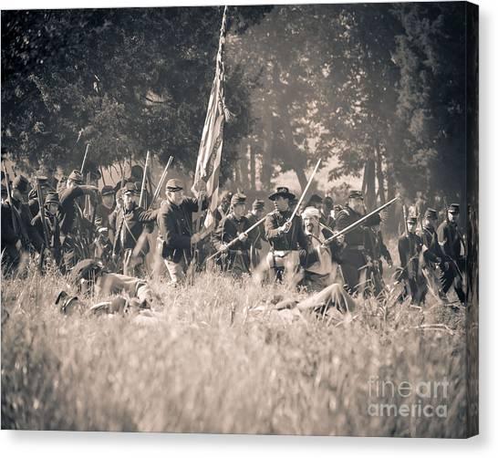 Gettysburg Union Infantry 9348s Canvas Print