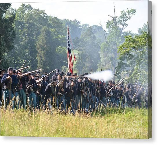 Gettysburg Union Infantry 9372c Canvas Print