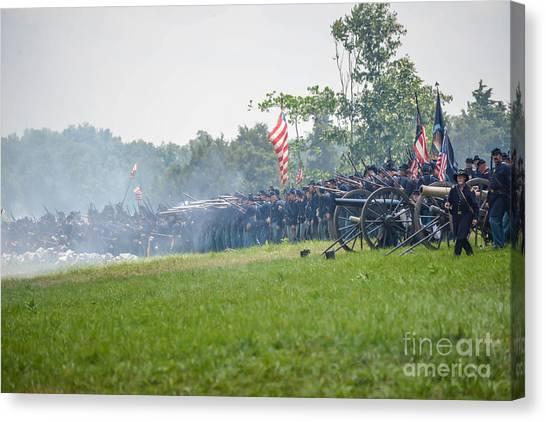 Gettysburg Union Infantry 9968c Canvas Print
