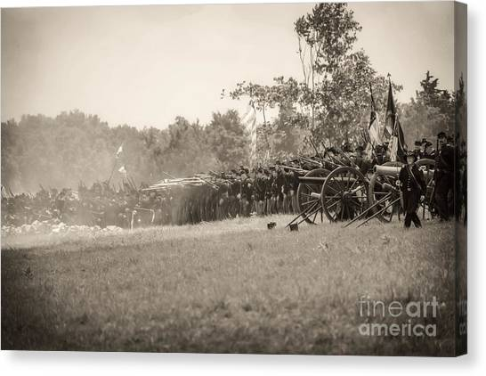 Gettysburg Union Infantry 9968s Canvas Print