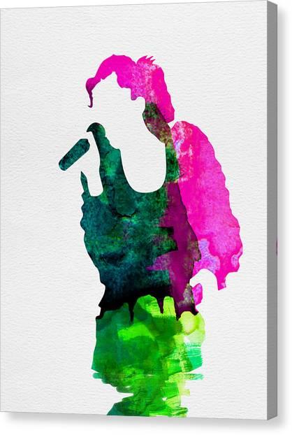 Gwen Stefani Canvas Print -  Gwen Watercolor by Naxart Studio