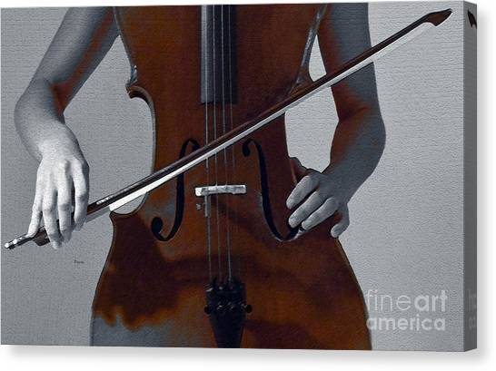 Cellists Canvas Print -  Her Evening Gown  by Steven Digman
