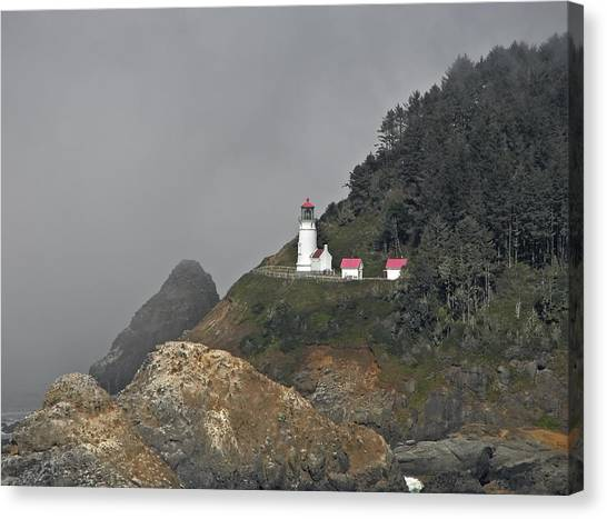 Heteca Head In Fog Canvas Print