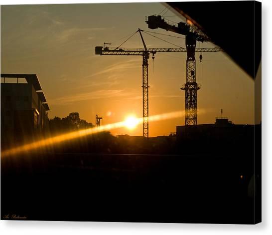 Industrial Sunrise Canvas Print