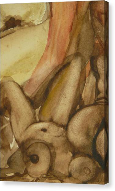 Jessie Nude Laying Down Canvas Print by Thierry-guenand   DAUGENN-