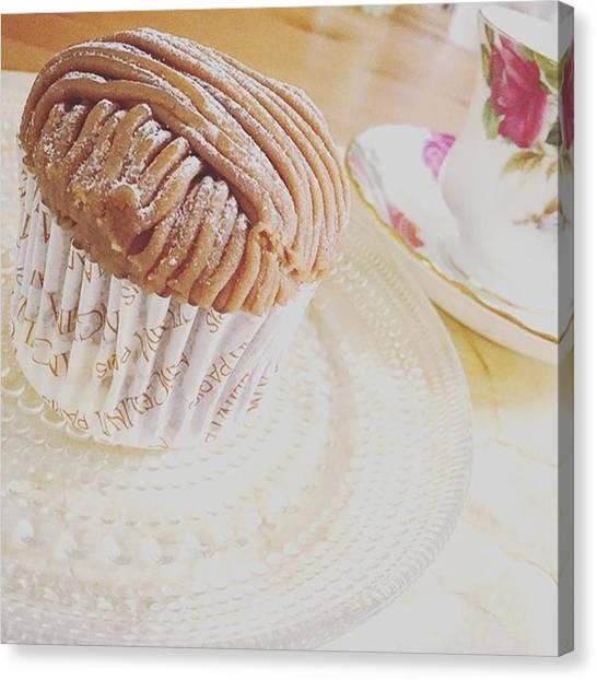 Sweet Tea Canvas Print - #デザート by Kaori Kurihara