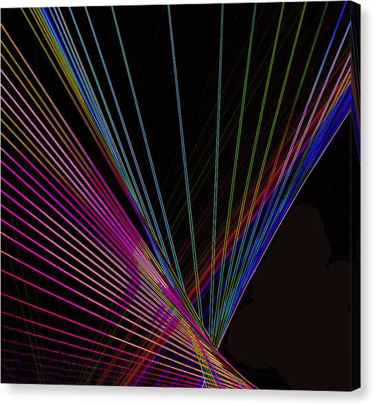 Fuzzy Canvas Print -  Laser Abstract by Art Spectrum