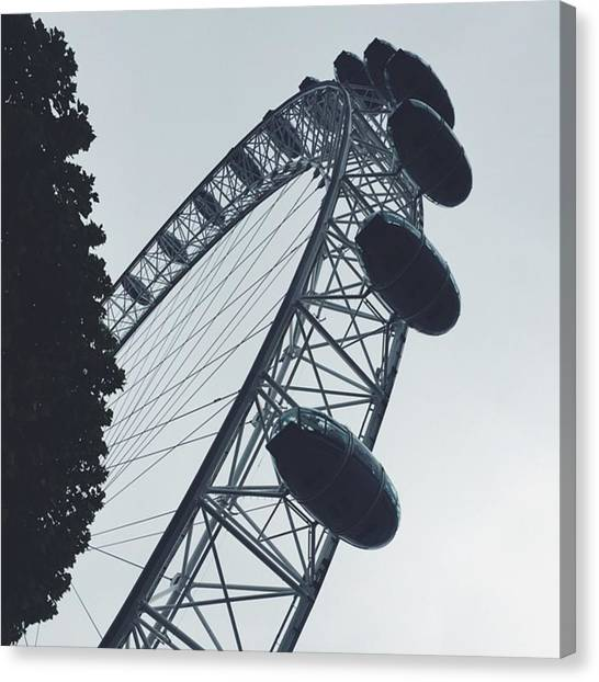 London Eye Canvas Print - London Eye by Oliver Dykes