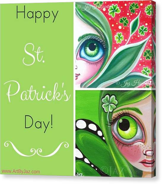 Lucky Canvas Print - 🍀 May The Luck Of The Irish Be With by Jaz Higgins