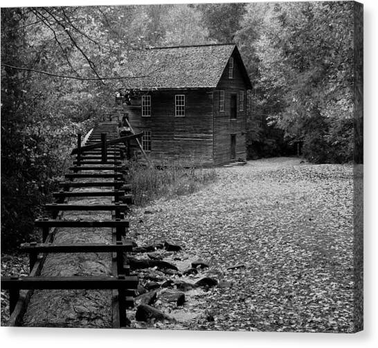 Mingus Mill - Black And White Canvas Print