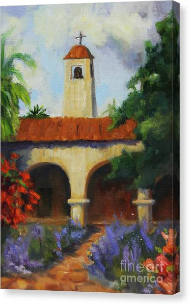 Missions California Canvas Print -  Mission San Juan Capistrano by Maria Hunt