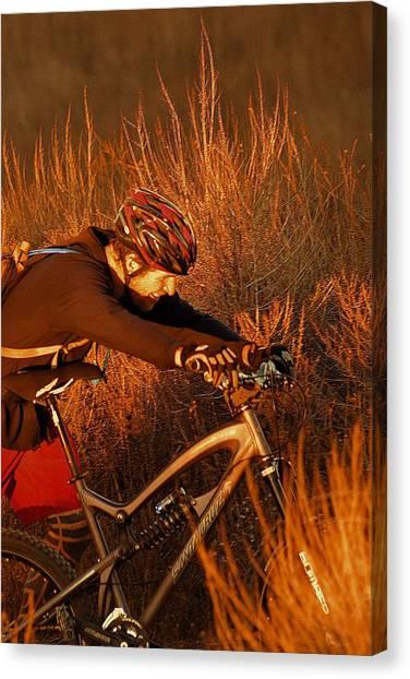 Mountain Bike Canvas Print by Viktor Savchenko