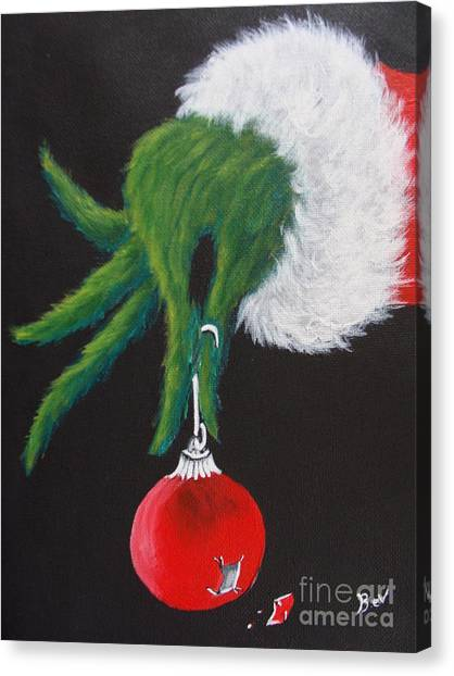 Grinch Canvas Print -  Mr Grinch by Beverly Livingstone