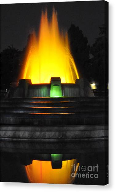 Mulholland Fountain Reflection Canvas Print