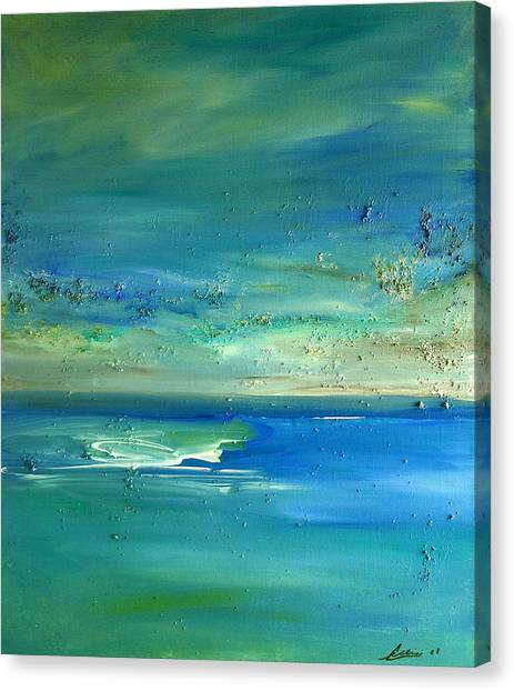Pearls Of Tranquility Seascape 1 Canvas Print