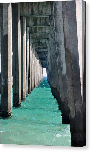 Pensacola Beach Pier Canvas Print