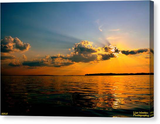 Perfect Ending To A Perfect Day Canvas Print