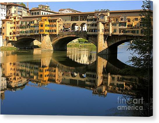 Ponte Vecchio Reflection Canvas Print