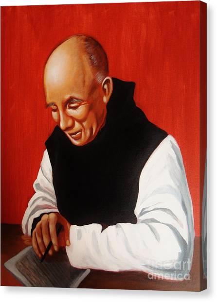 Trappist Monk Canvas Print -  Portrait Of Thomas Merton by Joseph Malham
