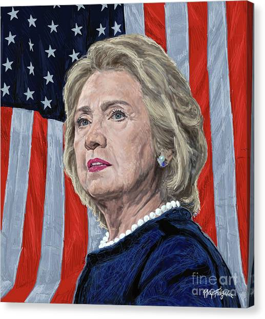 Bill Clinton Canvas Print -  Presidential Candidate Hillary Rodham Clinton by Neil Feigeles