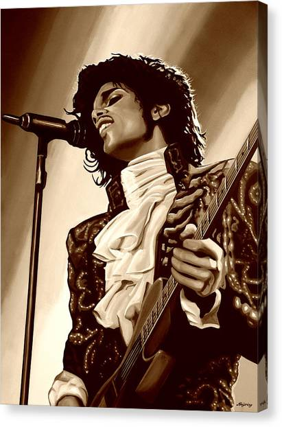 Purple Canvas Print -  Prince The Artist by Paul Meijering