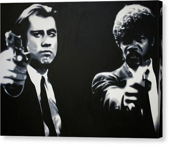Pulp Fiction Canvas Print - - Pulp Fiction - by Luis Ludzska