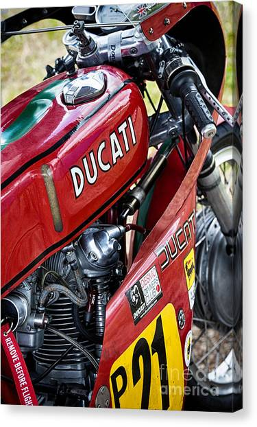 Demo Canvas Print -  Racing Ducati  by Tim Gainey