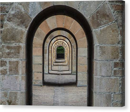 Receding Arches Canvas Print