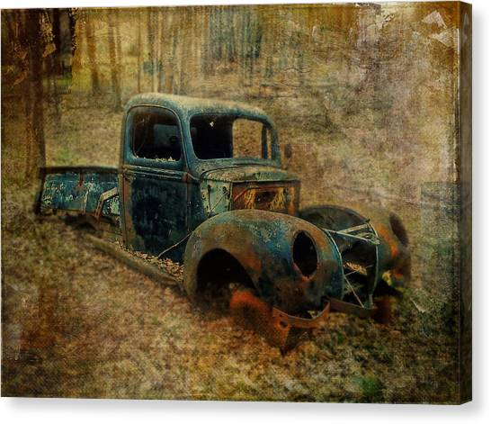 Resurrection Vintage Truck Canvas Print