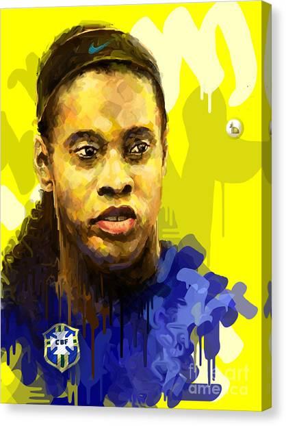 Ronaldinho Gaucho Canvas Print -  Ronaldinho Gaucho by Kegya Art Gallery