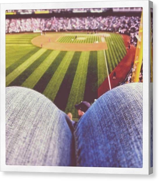 Baseball Teams Canvas Print - #safeco by Raymie Jackman