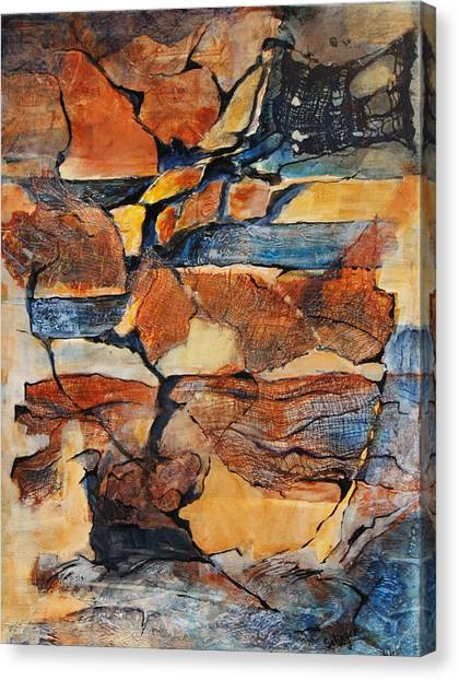 Sedimentary Strata Canvas Print