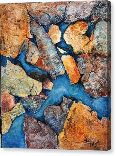 Shoreline Rocks Canvas Print