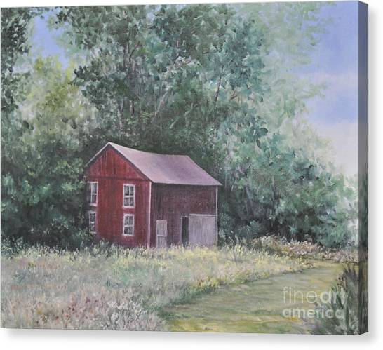 Shortys Shed Canvas Print by Penny Neimiller