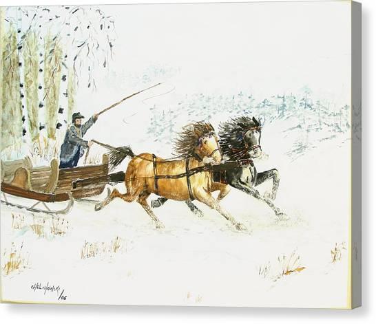 Sleigh Ride  Canvas Print