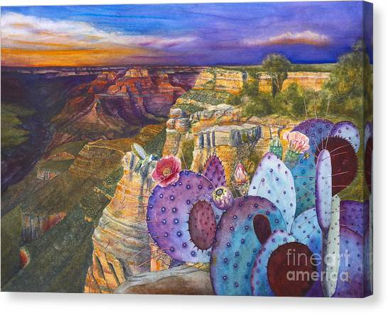South Rim Wonders Canvas Print by Jany Schindler