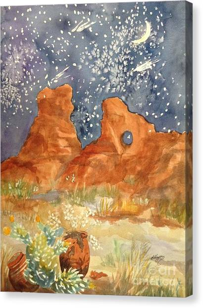 Starry Night In The Desert Canvas Print