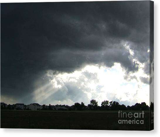 Storm Cloud  Over Westminster Canvas Print by Nancy Rucker