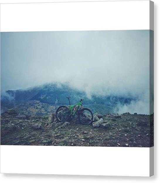 Dirt Bikes Canvas Print - • Surfing Between Clouds • Hoy by Andres Entero