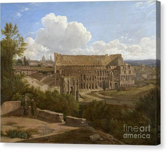 The Colosseum Canvas Print -  The Arch Of Constantine And The Colosseum by Celestial Images