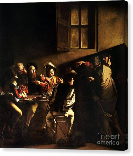The Calling Of Saint Matthew Canvas Print