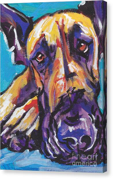 Great Danes Canvas Print -  The Great Danish by Lea S