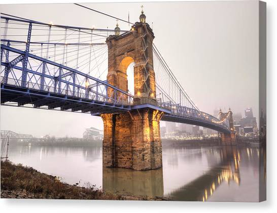The Roebling Bridge Canvas Print