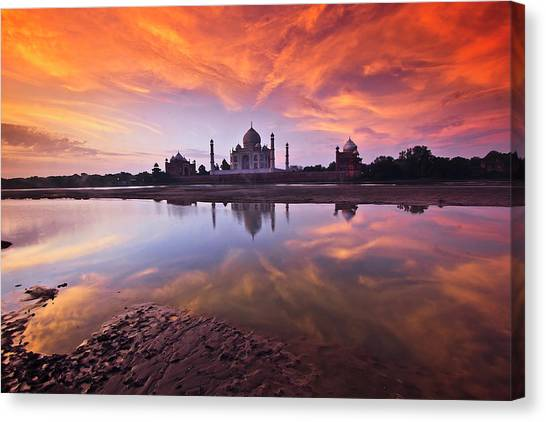 Indian Canvas Print - .: The Taj :. by Photograph By Ashique