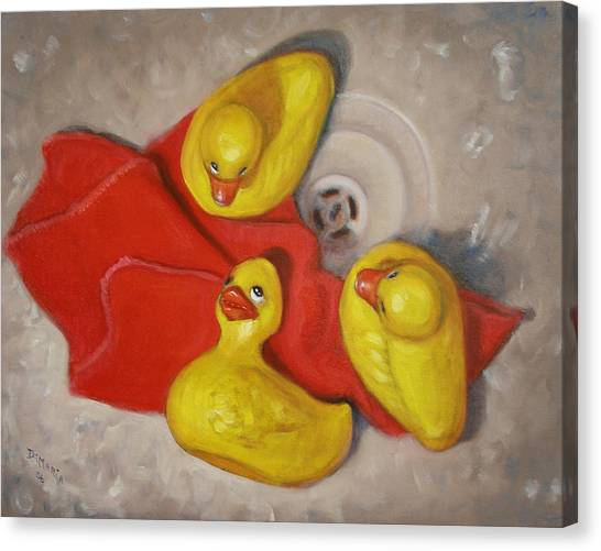 Three Rubber Ducks  #1 Canvas Print