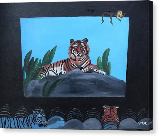 Tiger Show Canvas Print