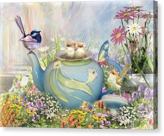 Tiny Tea Party Canvas Print
