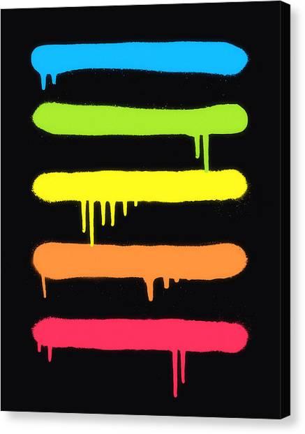Graffiti Canvas Print -  Trendy Cool Graffiti Tag Lines by Philipp Rietz